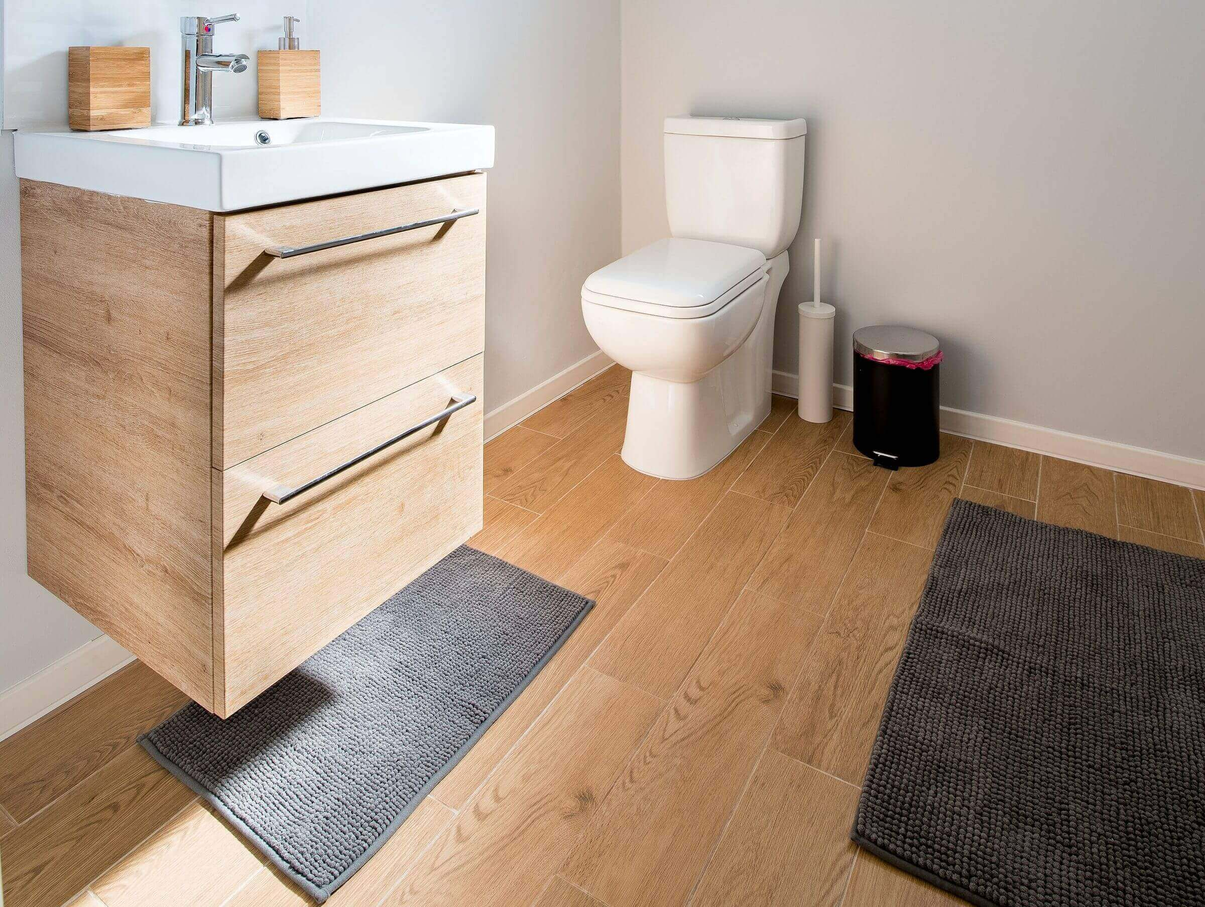 How to protect the floor around the toilet