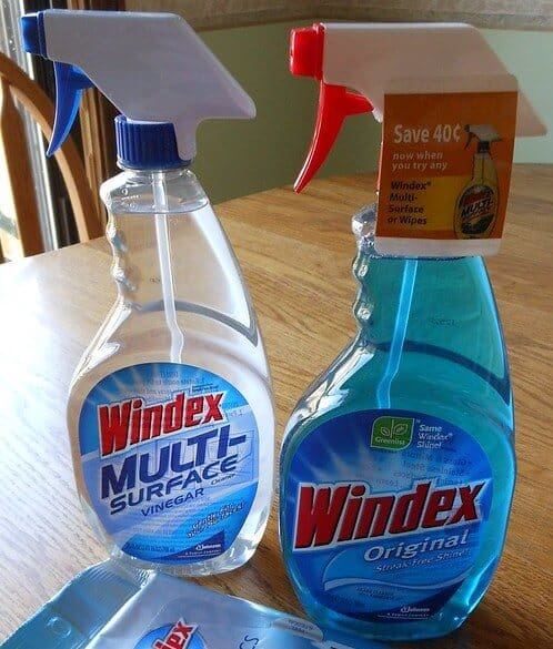 How to clean a heavily soiled microfiber couch with Windex
